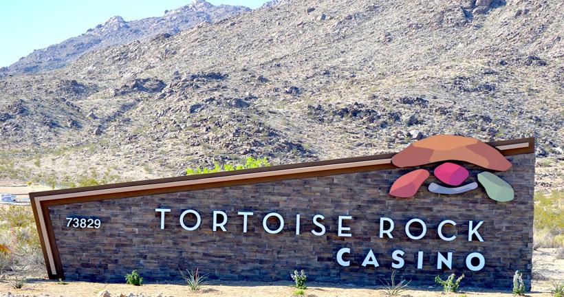 tortoise rock sign